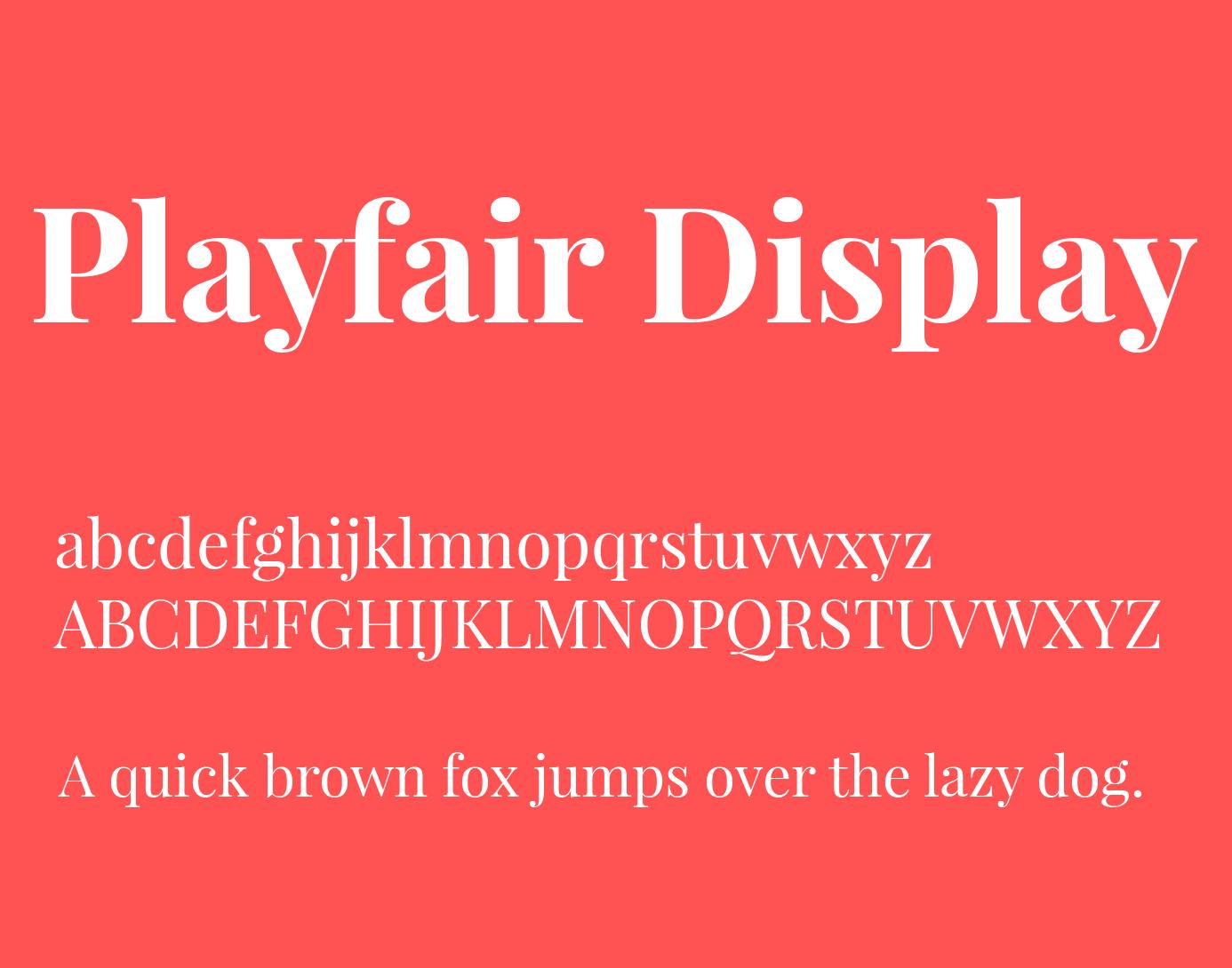 Playfair Display Font-1