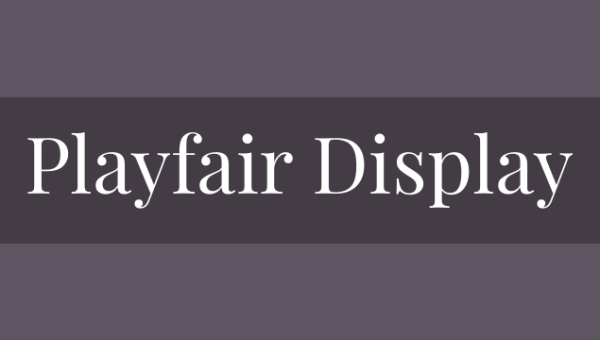 Playfair Display SC Font