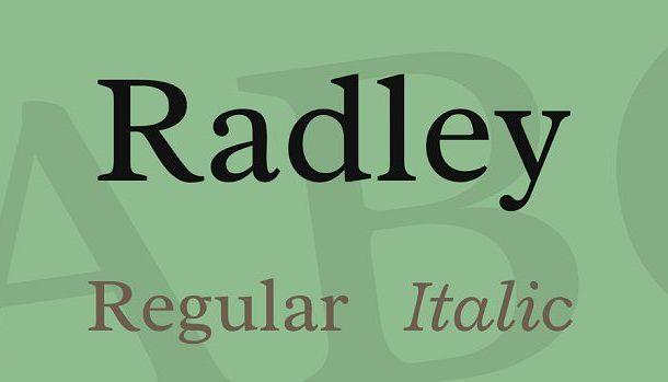 Radley Font