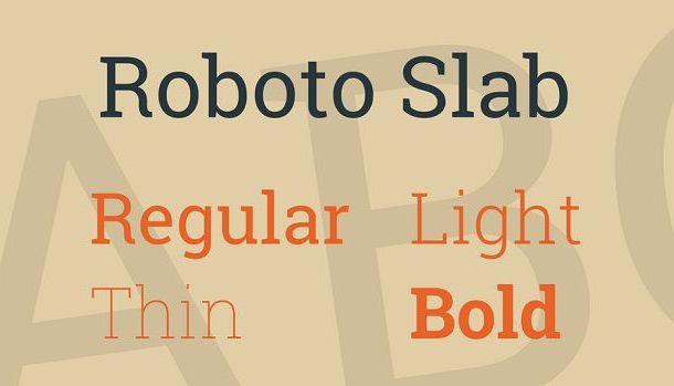 Roboto Slab Font