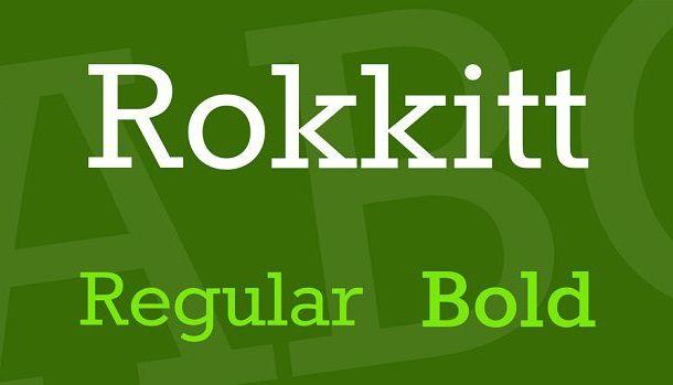 Rokkitt Font