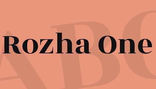 Rozha One Font