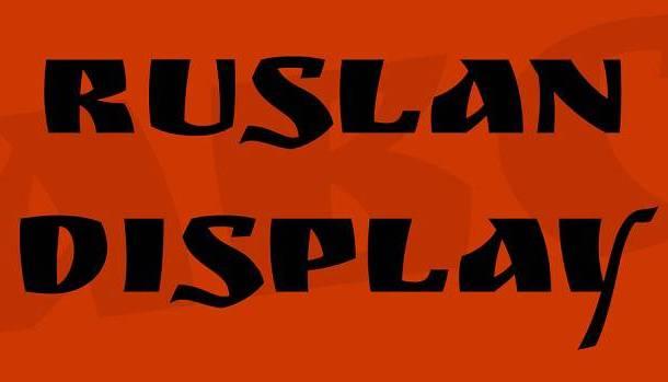 Ruslan Display Font