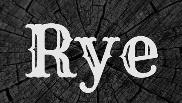 Rye Font