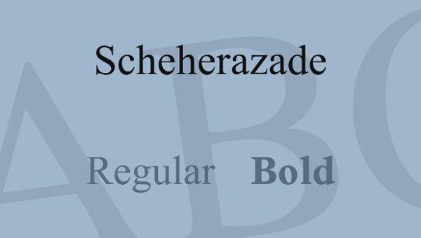 Scheherazade Font