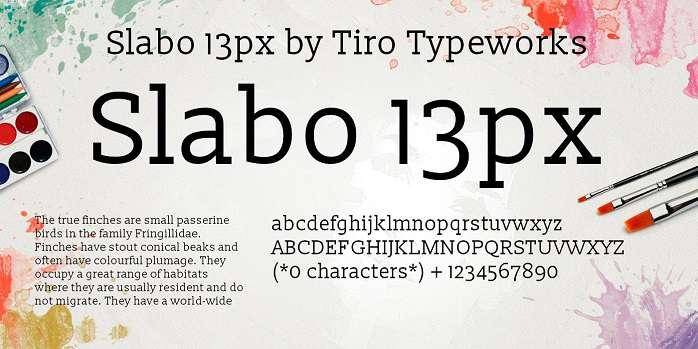 Slabo 13px Font