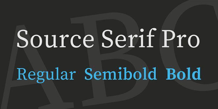 Source Serif Pro Font - Dafont Free