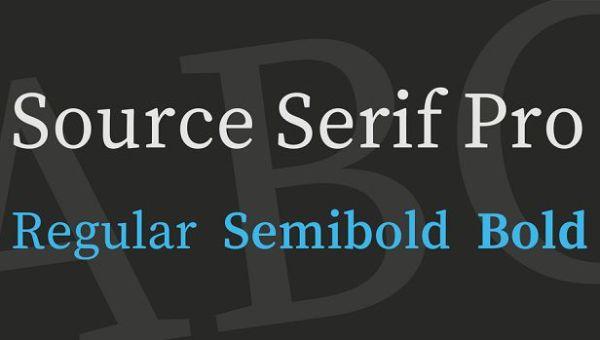 Source Serif Pro Font
