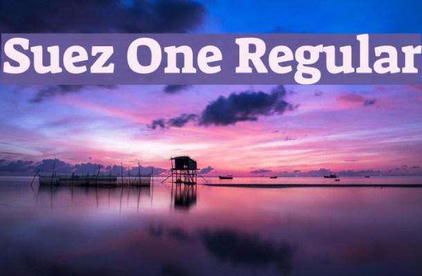 Suez One Font