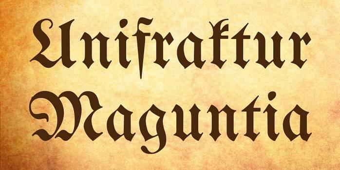 UnifrakturMaguntia Font - Dafont Free