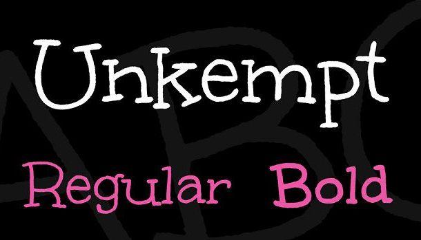 Unkempt Font Family