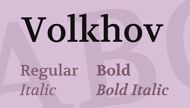 Volkhov Serif Font Family