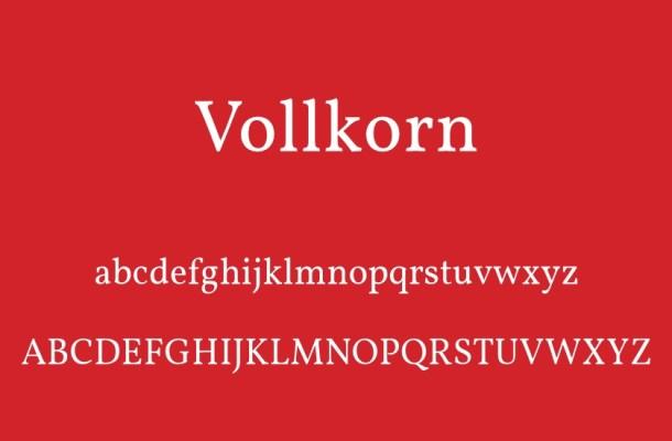 Vollkorn Serif Font Family