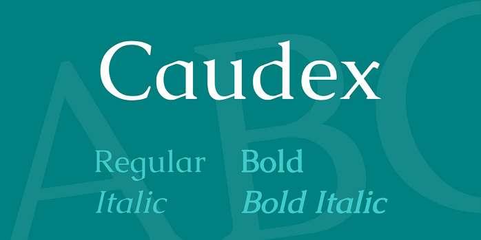 caudex-font