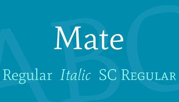 Mate SC Font