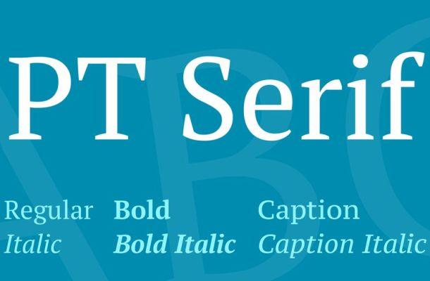 PT Serif Font Family