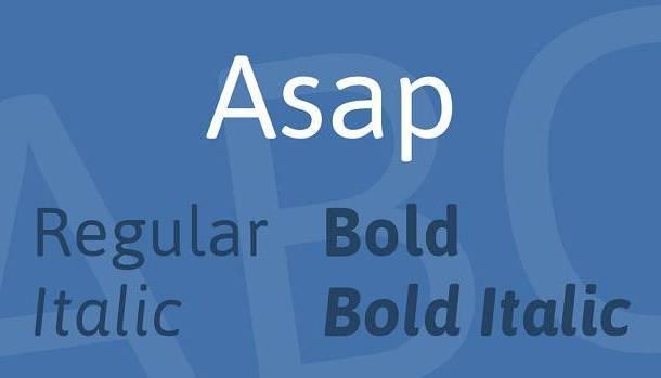 Asap Font Family