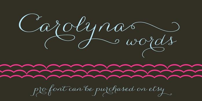Carolyna Words Font Family