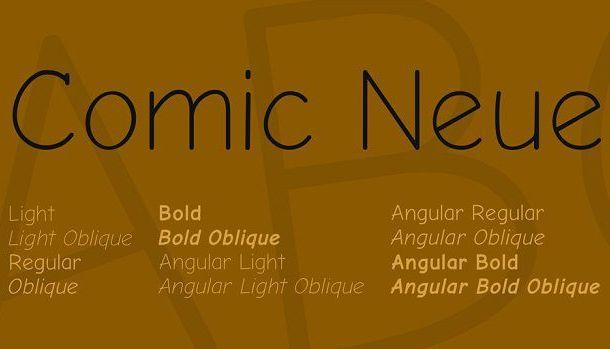 Comic Neue Font Family