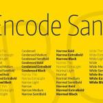 Encode Sans Condensed Font Family