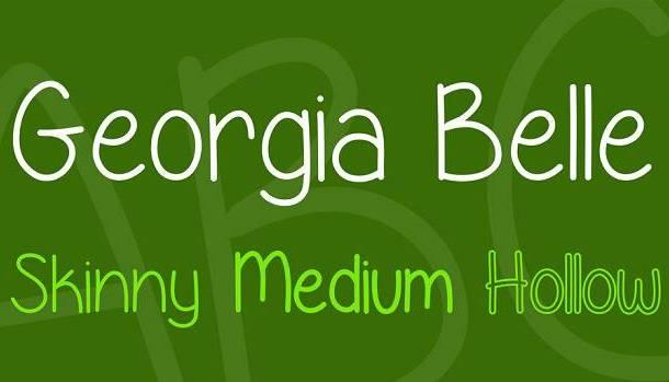 Georgia Belle Font Family