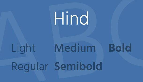 Hind Font Family