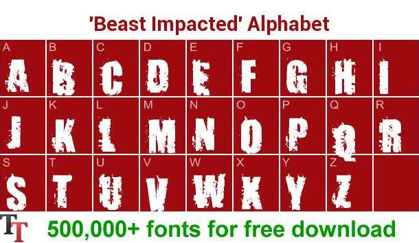 Impacted Font