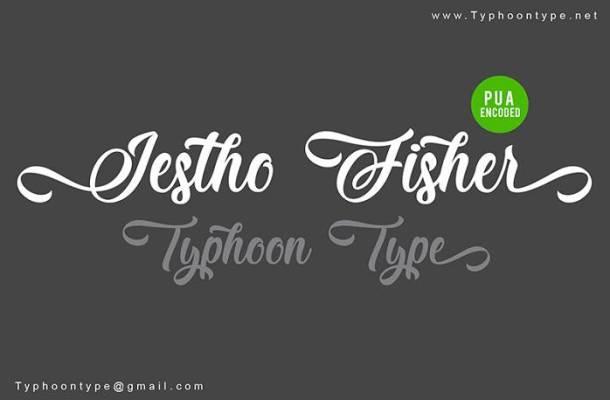 Jestho Fisher Font