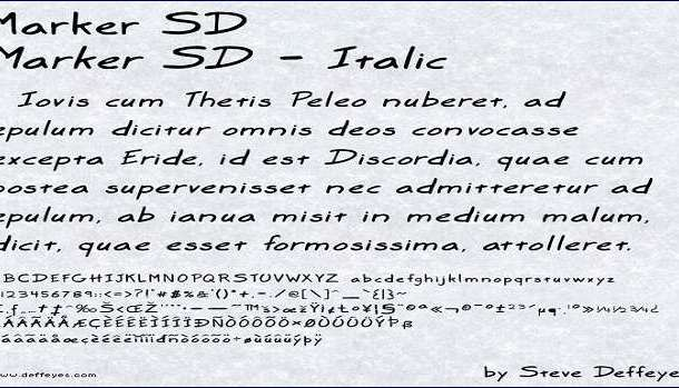 Marker SD Font Family
