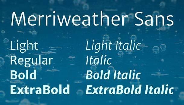 Merriweather Sans Font Family