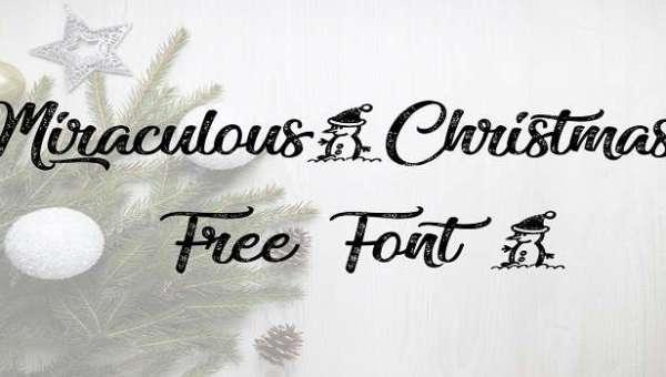 Miraculous Christmas Font