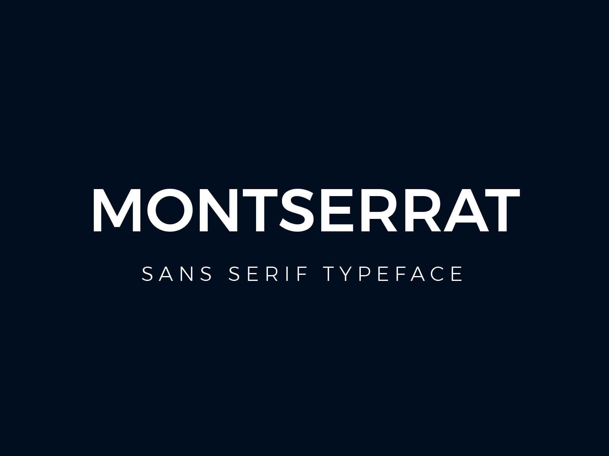 Montserrat Font Family - Dafont Free