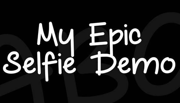 My Epic Selfie Font