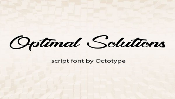Optimal Solutions Font