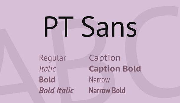PT Sans Caption Font Family