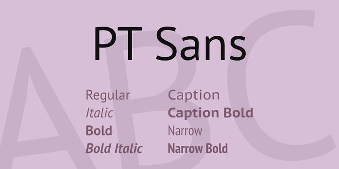 PT Sans Caption Font Family
