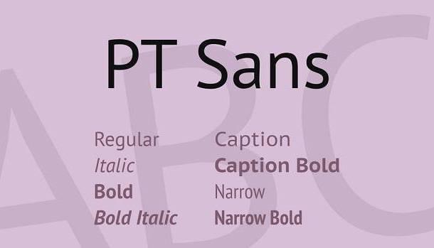 PT Sans Font Family