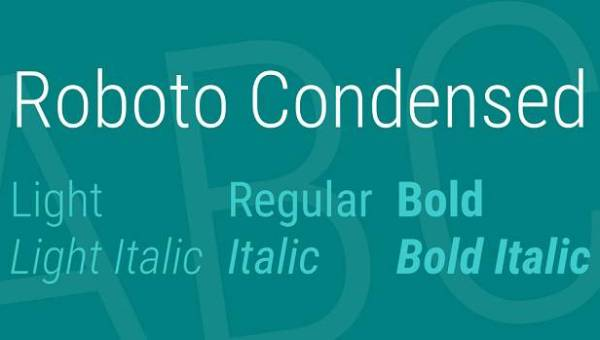 Roboto Condensed Font Family