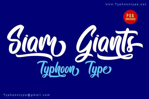 Siam Giants Font