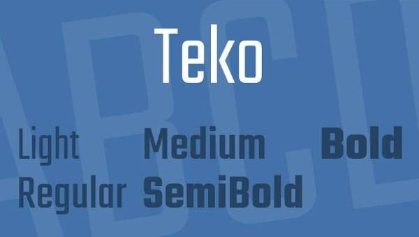 Teko Font Family