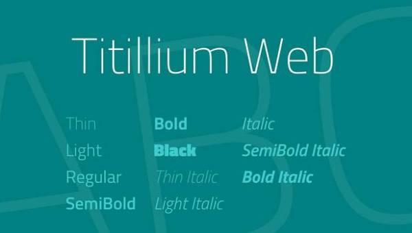 Titillium Web Font Family