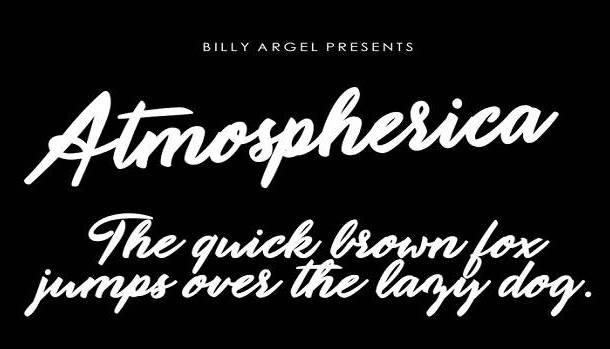 Atmospherica Font