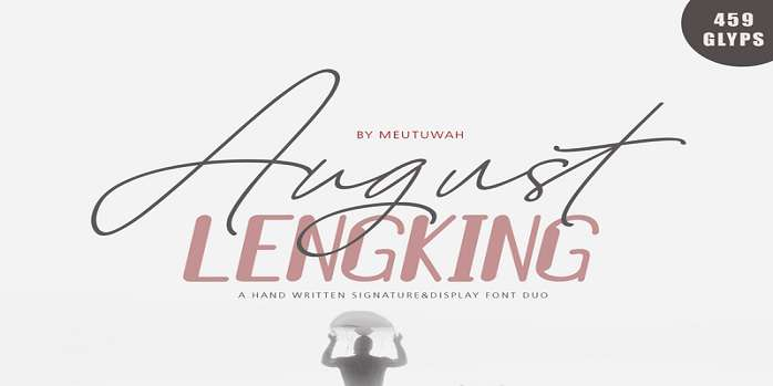 August Script Font