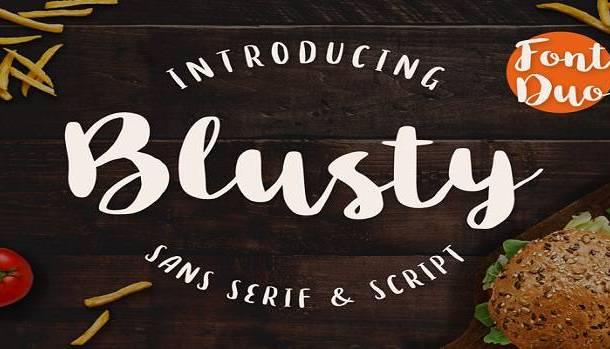 Blusty Script Font