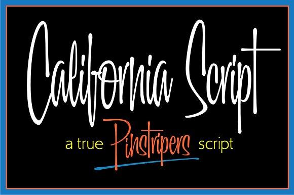 California Script Font