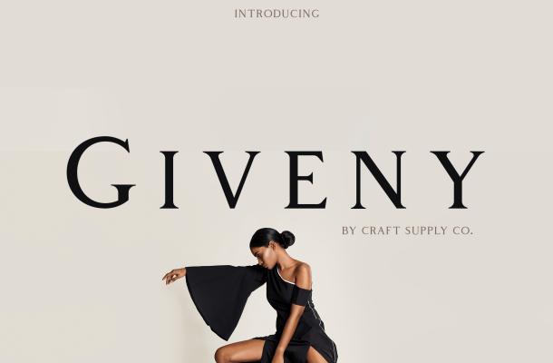 Giveny Serif Font Family