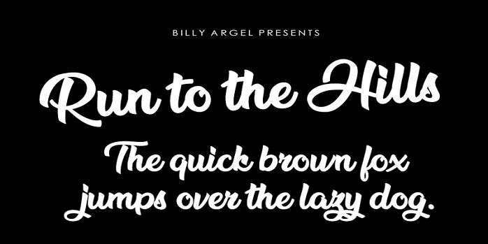 Run to the Hills Font