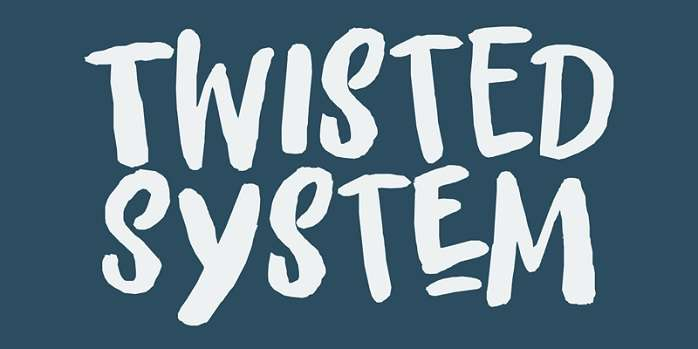 Twisted System Font
