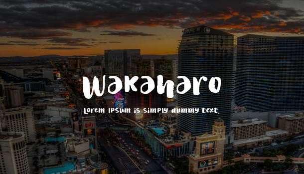 Wakaharo Font