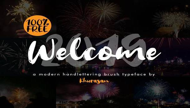 Welcome 2019 Font